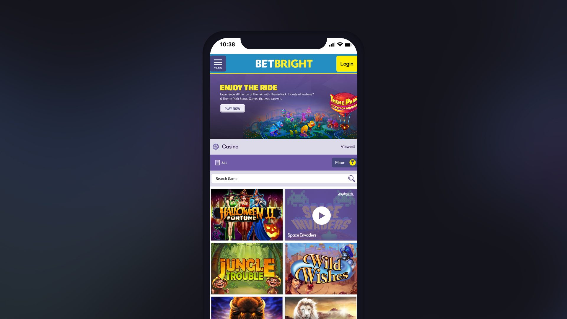 Betbright – Casino Concept
