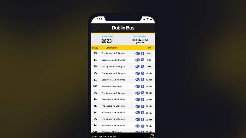 Dublin Bus App (Concept)
